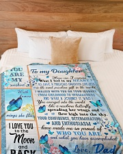 """I LOVE YOU TO THE MOON AND BACK Large Fleece Blanket - 60"""" x 80"""" aos-coral-fleece-blanket-60x80-lifestyle-front-02"""