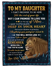 YOU WILL NEVER LOSE - LOVELY GIFT FOR DAUGHTER Fleece Blanket tile