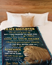 """YOU WILL NEVER LOSE - LOVELY GIFT FOR DAUGHTER Large Fleece Blanket - 60"""" x 80"""" aos-coral-fleece-blanket-60x80-lifestyle-front-02"""