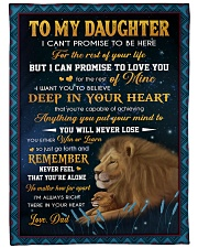 """YOU WILL NEVER LOSE - LOVELY GIFT FOR DAUGHTER Large Fleece Blanket - 60"""" x 80"""" front"""