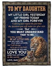 MY LITTLE GIRL - GIFT FOR DAUGHTER FROM DAD Fleece Blanket tile