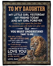 """MY LITTLE GIRL - GIFT FOR DAUGHTER FROM DAD Large Fleece Blanket - 60"""" x 80"""" front"""