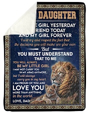 """MY LITTLE GIRL - GIFT FOR DAUGHTER FROM DAD Large Sherpa Fleece Blanket - 60"""" x 80"""" thumbnail"""