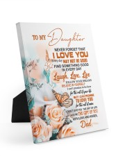 FOLLOW YOUR DREAM - BEAUTIFUL GIFT FOR DAUGHTER 8x10 Easel-Back Gallery Wrapped Canvas thumbnail