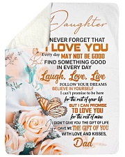 """FOLLOW YOUR DREAM - BEAUTIFUL GIFT FOR DAUGHTER Large Sherpa Fleece Blanket - 60"""" x 80"""" thumbnail"""