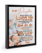 FOLLOW YOUR DREAM - BEAUTIFUL GIFT FOR DAUGHTER 11x14 Black Floating Framed Canvas Prints thumbnail