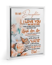 FOLLOW YOUR DREAM - BEAUTIFUL GIFT FOR DAUGHTER 11x14 White Floating Framed Canvas Prints thumbnail