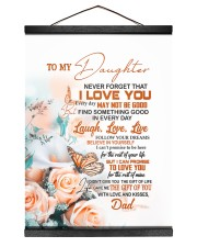FOLLOW YOUR DREAM - BEAUTIFUL GIFT FOR DAUGHTER 12x16 Black Hanging Canvas thumbnail