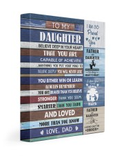 YOU WILL NEVER LOSE - LOVELY GIFT FOR DAUGHTER 11x14 Gallery Wrapped Canvas Prints front