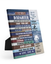 YOU WILL NEVER LOSE - LOVELY GIFT FOR DAUGHTER Easel-Back Gallery Wrapped Canvas tile