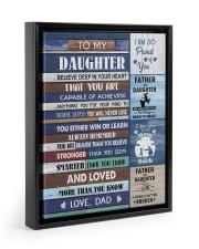 YOU WILL NEVER LOSE - LOVELY GIFT FOR DAUGHTER Floating Framed Canvas Prints Black tile
