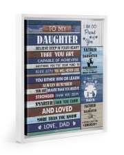 YOU WILL NEVER LOSE - LOVELY GIFT FOR DAUGHTER Floating Framed Canvas Prints White tile