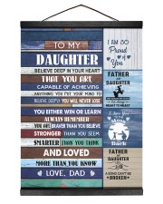 YOU WILL NEVER LOSE - LOVELY GIFT FOR DAUGHTER Hanging Canvas tile