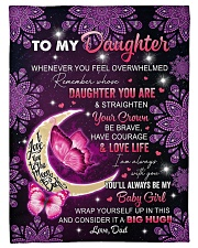 I AM ALWAYS WITH YOU - TO DAUGHTER FROM DAD Fleece Blanket tile