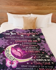 """I AM ALWAYS WITH YOU - TO DAUGHTER FROM DAD Large Fleece Blanket - 60"""" x 80"""" aos-coral-fleece-blanket-60x80-lifestyle-front-02"""