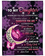 """I AM ALWAYS WITH YOU - TO DAUGHTER FROM DAD Large Fleece Blanket - 60"""" x 80"""" front"""