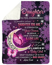 """I AM ALWAYS WITH YOU - TO DAUGHTER FROM DAD Large Sherpa Fleece Blanket - 60"""" x 80"""" thumbnail"""