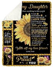 I LOVE YOU - BEAUTIFUL GIFT FOR DAUGHTER Sherpa Fleece Blanket tile
