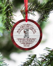 HOW SPECIAL YOU ARE TO ME - BEST GIFT FOR DAUGHTER Circle ornament - single (porcelain) aos-circle-ornament-single-porcelain-lifestyles-07