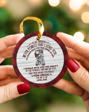 HOW SPECIAL YOU ARE TO ME - BEST GIFT FOR DAUGHTER Circle ornament - single (porcelain) aos-circle-ornament-single-porcelain-lifestyles-08