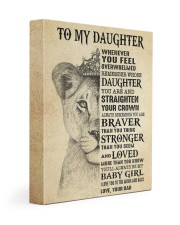 MY BABY GIRL - TO DAUGHTER FROM DAD 11x14 Gallery Wrapped Canvas Prints front