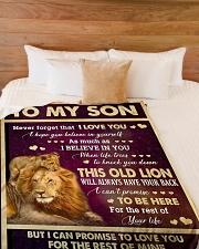"""I LOVE YOU - GREAT GIFT FOR SON Large Fleece Blanket - 60"""" x 80"""" aos-coral-fleece-blanket-60x80-lifestyle-front-02"""