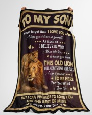 """I LOVE YOU - GREAT GIFT FOR SON Large Fleece Blanket - 60"""" x 80"""" aos-coral-fleece-blanket-60x80-lifestyle-front-10"""