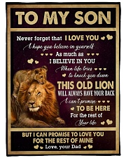 """I LOVE YOU - GREAT GIFT FOR SON Large Fleece Blanket - 60"""" x 80"""" front"""