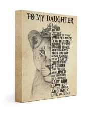 I LOVE YOU - BEST GIFT FOR DAUGHTER FROM DAD 11x14 Gallery Wrapped Canvas Prints front