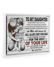 BELIEVE IN YOURSELF - LOVELY GIFT FOR DAUGHTER Floating Framed Canvas Prints White tile