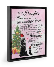 KEEP ME IN YOUR HEART - LOVELY GIFT FOR DAUGHTER 11x14 Black Floating Framed Canvas Prints thumbnail