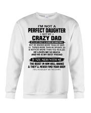 HE LOVES ME SO MUCH - LOVELY GIFT FOR DAUGHTER Crewneck Sweatshirt tile