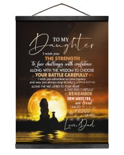 I AM SO PROUD OF YOU - BEST GIFT FOR DAUGHTER 12x16 Black Hanging Canvas thumbnail