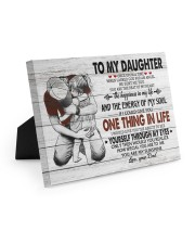 ONE THING IN LIFE-BEST GIFT FOR DAUGHTER FROM DAD 10x8 Easel-Back Gallery Wrapped Canvas thumbnail