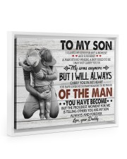 YOU HAVE BECOME - SPECIAL GIFT FOR SON Floating Framed Canvas Prints White tile