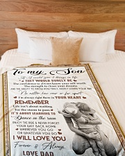 """I WILL LOVE YOU - BEST GIFT FOR SON Large Fleece Blanket - 60"""" x 80"""" aos-coral-fleece-blanket-60x80-lifestyle-front-02"""