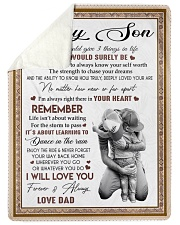 """I WILL LOVE YOU - BEST GIFT FOR SON Large Sherpa Fleece Blanket - 60"""" x 80"""" thumbnail"""