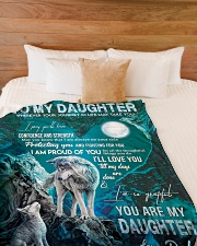 """I PRAY YOU'LL HAVE CONFIDENCE AND STRENGTH Large Fleece Blanket - 60"""" x 80"""" aos-coral-fleece-blanket-60x80-lifestyle-front-02"""
