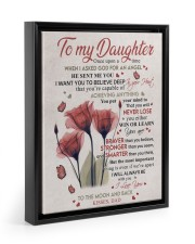 YOU WILL NEVER LOSE - LOVELY GIFT FOR DAUGHTER 11x14 Black Floating Framed Canvas Prints thumbnail
