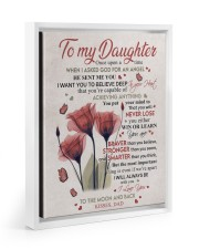 YOU WILL NEVER LOSE - LOVELY GIFT FOR DAUGHTER 11x14 White Floating Framed Canvas Prints thumbnail