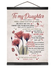 YOU WILL NEVER LOSE - LOVELY GIFT FOR DAUGHTER 12x16 Black Hanging Canvas thumbnail