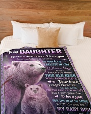 """I BELIEVE IN YOU - GREAT GIFT FOR DAUGHTER Large Fleece Blanket - 60"""" x 80"""" aos-coral-fleece-blanket-60x80-lifestyle-front-02"""
