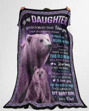 """I BELIEVE IN YOU - GREAT GIFT FOR DAUGHTER Large Fleece Blanket - 60"""" x 80"""" aos-coral-fleece-blanket-60x80-lifestyle-front-10"""