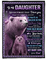 """I BELIEVE IN YOU - GREAT GIFT FOR DAUGHTER Large Fleece Blanket - 60"""" x 80"""" front"""