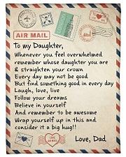 A BIG HUG - TO DAUGHTER FROM DAD Fleece Blanket tile