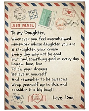 """A BIG HUG - TO DAUGHTER FROM DAD Large Fleece Blanket - 60"""" x 80"""" front"""