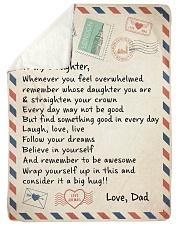 A BIG HUG - TO DAUGHTER FROM DAD Sherpa Fleece Blanket tile