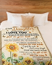 """JUST DO YOUR BEST - LOVELY GIFT FOR DAUGHTER Large Fleece Blanket - 60"""" x 80"""" aos-coral-fleece-blanket-60x80-lifestyle-front-02"""