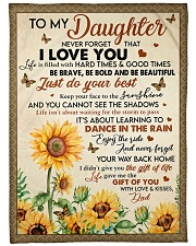 """JUST DO YOUR BEST - LOVELY GIFT FOR DAUGHTER Large Fleece Blanket - 60"""" x 80"""" front"""