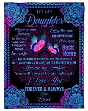 I LOVE YOU FOREVER AND ALWAYS Fleece Blanket tile